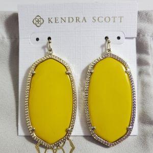 Kendra Scott Yellow Danielle Earrings